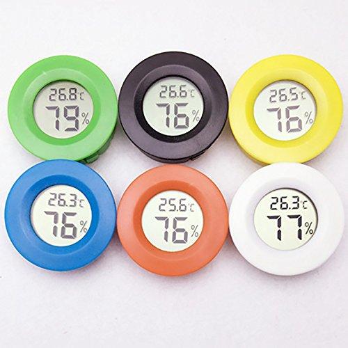 1pcs round mini lcdpet digitale della temperatura digitale misuratore di umidità misuratore termometro igrometro (colore casuale)