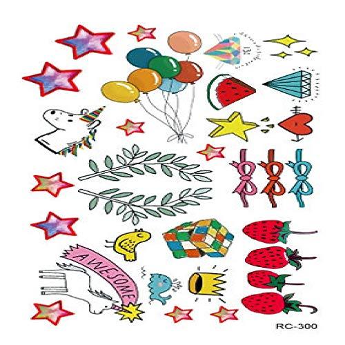 Umweltschutz wasserdicht Schweiß Tattoo Aufkleber Farbe kleine frische Einweg Männer und Frauen Tattoo Aufkleber 3Pcs-32 fertige Größe: 105 & times;60mm