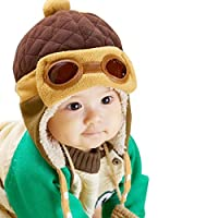 Tonsee® Toddlers Cool Baby Boy Girl Kids Infant Winter Pilot Aviator Warm Cap Hat Beanie Earflap Hats (Coffee)
