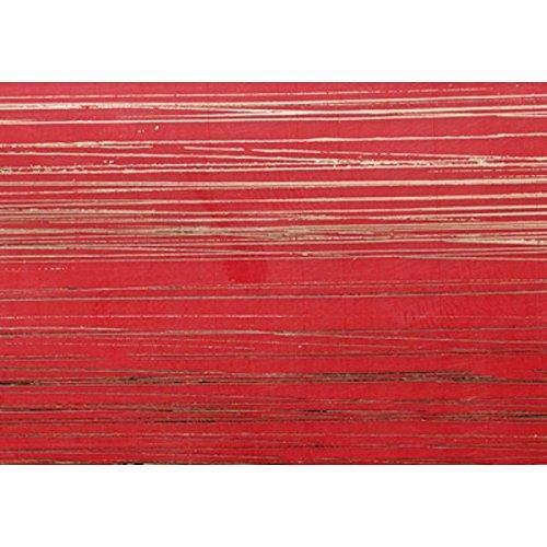 Wachsplatten / Verzierwachs 'Gemustert Rot' (1 Stück / 175 x 80 x 0,5 mm) TOP QUALITÄT