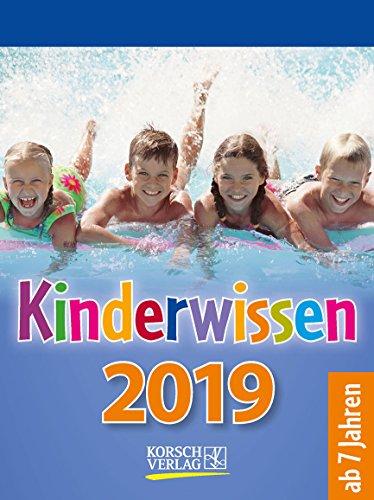 Kinderwissen  2019: Tages-Abreisskalender für Kinder mit Wissen und neuen Spielen. I Aufstellbar I 12 x 16 cm