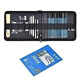 Cozywind Crayons de Dessin Crayons de Croquis Kit pour Artistes Enfants Art Croquis Dessin Professionnels Kit de Dessin Crayon Adulte avec Trousse (35 PCS)
