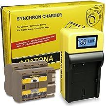 LCD Cargador de Batería + 2x Batería BP-511 para Canon Powershot G1   G2   G3   G5   G6   Pro 90 IS   Pro 1   Canon EOS D10   D20   20Da   D30   D40   D60   300D   10D   20D   30D   Digital Rebel