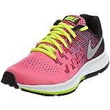 Nike Zoom Pegasus 33 (GS), Zapatillas de Running Para Mujer, Rosa (Hyper Pink / Metallic Silver-Black-Volt), 38 EU