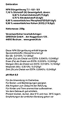 Heckenpflanzen Flüssig-Dünger NPK Supreme Volldünger für Laubhecken und Immergrüne Hecken HIGHTECH von GREEN24 bei Du und dein Garten