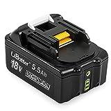 LiBatter 18V Li-ion Ersatz Akku Kompatibel mit Makita BL1860 BL1860B BL1850 BL1850B BL1830 BL1820 BL1815 194205-3 194309-1 LXT400 Werkzeugakkus (Mit 3 LED Kontrollleuchte)