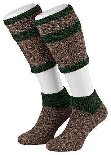 Tobeni Uomo Trachten Loferl Calze Costumi Tedeschi Calzini Tradizionale Taglia 43-44 Colore Marrone-Abete