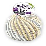 Woolly Hugs Plan Fb. 80, 100g Merinowolle extrafein mit Baumwolle zum Stricken und Häkeln, geeigent für planned pooling Technik
