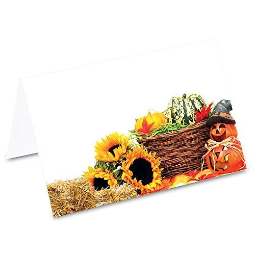 (PRICARO Tischkarten Halloween Deko, 50 Stück)