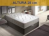 Relaxing-Confort AMZP18 - Materasso a molle insacchettate in viscoelastico, in poliuretano, matrimoniale