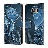 Head Case Designs Officiel Vincent HIE Argent Dragons 2 Coque en Cuir à Portefeuille...