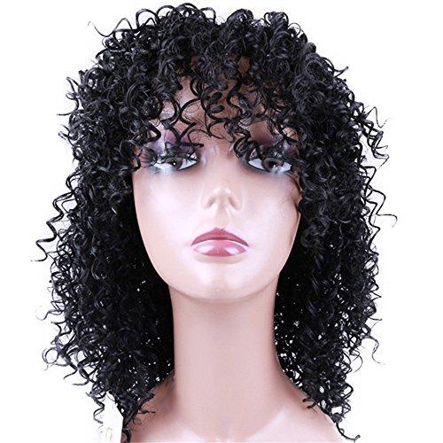 HAOBAO Chemiefaser Perücke Afrika Frau Trend Explosionsgeld Kleine Explosion Afrikanisches Lied Europa und Amerika Schwarze Haare gesetzt Natürliche Gesichtsmaske