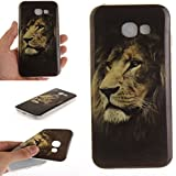 Pour Samsung Galaxy A3 2017 Coque,Ecoway Housse étui en TPU Silicone Shell Housse Coque étui Case Cover Cuir Etui Housse de Protection Coque Étui Samsung Galaxy A3 2017 –Lion