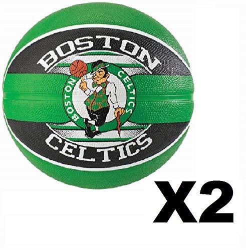 2 Pack Spalding NBA Team Boston Celtics Basketball