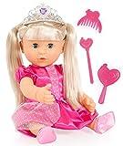 Bayer Design 94015AE - Puppe Charlene Sister 40 cm mit Haaren und Zubehör, Prinzessin-Outfit