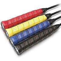 Vigo Sports Premium Griffbänder – Anti-Rutsch Overgrip Bänder für Tennis, Badminton & Squash Schläger – Mega Grip Griffband für Dein Racket! (Gelb)