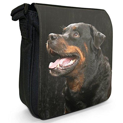 Rottweiler cane piccolo nero Tela Borsa a tracolla, taglia S Pure Bred Rottweiler Dog
