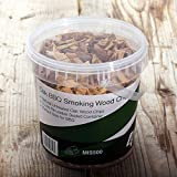 First4Spares Classic Oak Smoking Wood Chips for Fire Pits BBQ's & Smokers - 1.25L Resealable Tub for Freshness