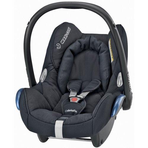 Maxi-Cosi Cabriofix Babyschale Gruppe 0+ (0-13 kg), Kollektion 2014, total black