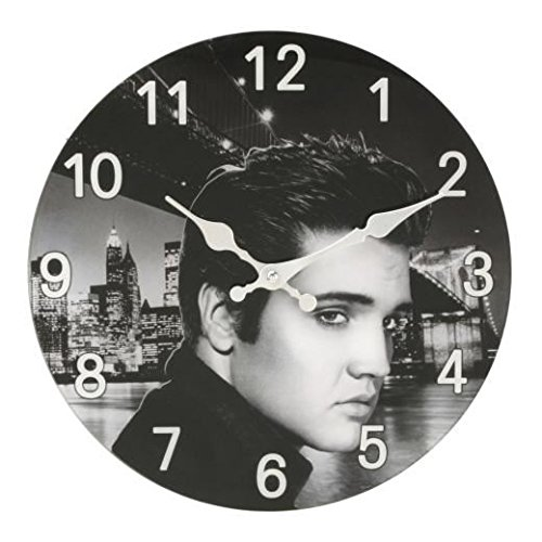 konen-Art Glass Elvis Presley-Entwurf Runde Wanduhr ()