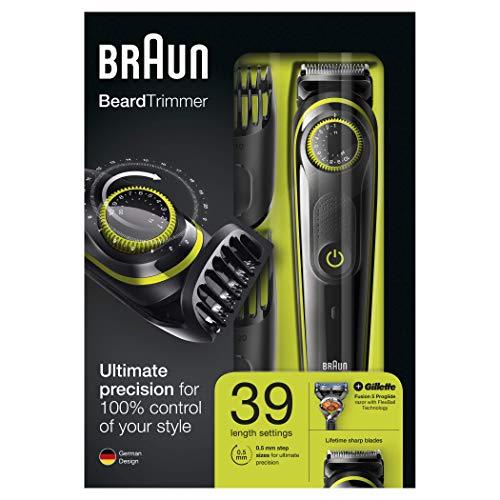 Braun BT3041 Recortadora de Barba y Cortapelos, Negro/Verde Eléctrico