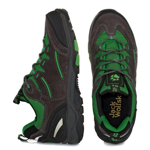 Jack Wolfskin STAR TRACK TEXAPORE 4004611-6101310 Unisex-Kinder Trekking & Wanderschuhe basil green