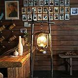 BZJBOY Lampadaire Chambre à coucher antique lampadaire salon fer forgé verre lampes à pétrole...