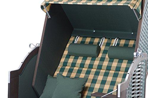 Strandkorb Sylt PE green Dessin 353 - 2