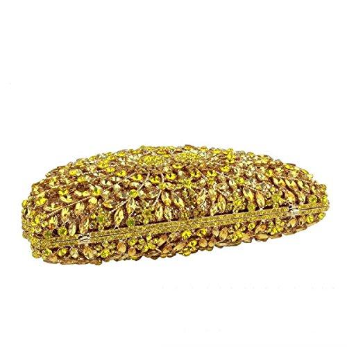 Kristall-Diamant-Abendtasche Dame Handtasche Brautpaket Yellow
