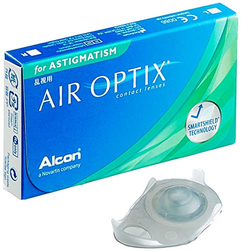 Alcon Air Optix for Astigmatism Monatslinsen weich, 3 Stück / BC 8.7 mm / DIA 14.5 / CYL -0.75 / ACHSE 80 / -1.25 Dioptrien