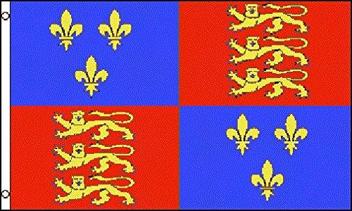 AZ FLAG Flagge KÖNIGIN Elisabeth I. VON England 150x90cm - ENGLISCHE Fahne 90 x 150 cm - flaggen Top Qualität