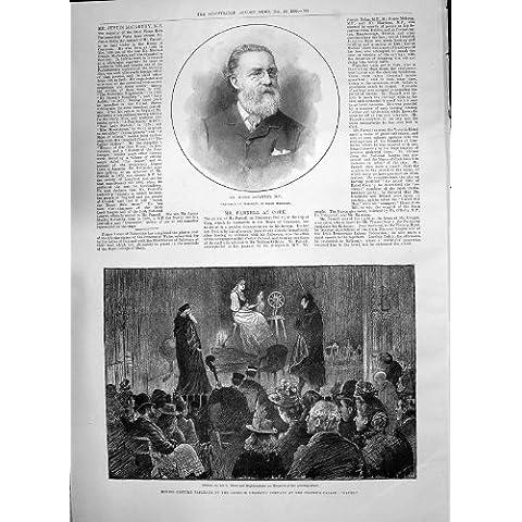 Pavone Antico 1890 di Faust Teignmouth del Teatro di Mccarthy Garrick della Giustizia della Stampa