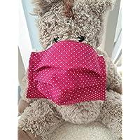 Mund- und Nasenmaske Punkte pink Baumwolle