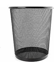 TiedRibbons Metal Mesh Big Size Dustbin for Room for Kids | Waste Paper Basket(Black, 10 LTR)