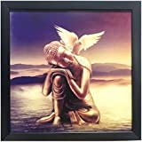 Lord Buddha (Resting Buddha ) || Paper Plane Design Exclusive Framed Wall Art Paintings For Living Room And Bedroom. Frame Size (12 Inch X 12 Inch, (Synthetic, 30 Cm X 3 Cm X 30 Cm, Special Effect Textured)