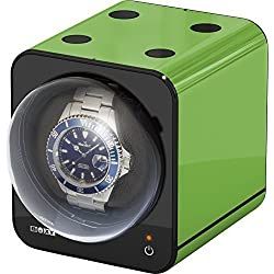 Boxy Fancy Brick Watch Winder - Color GREEN - by Beco Technic - Modular system - Power Sharing Technology - Programmable - High Quality