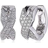 s.Oliver Damen-Ohrstecker 925 Sterling Silber 45 cm weiß 440578