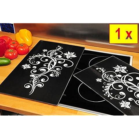 Pour plaques de grill, mur & anti-glasGrill-schneideplatten massif-dimensions : env. 52 x 0,8 cm x 30 pièces-noir-lot de grill zeller schneideplatte, panneau de protection pour cuisinière, cache-plaque de cuisson céramique pour cuisinières, plaque de cuisson vitrocéramique à induction