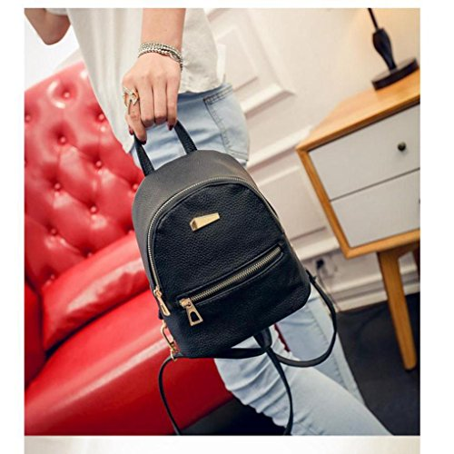 Saingace Der neue Rucksack-Spielraum-Schule-Rucksack der Frauen Handtaschen Schultertasche Freizeitrucksack Tasche Rucksäcke Schwarz