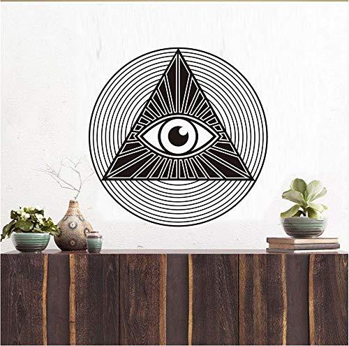 Lbonb Eye Of Providence Wandtattoos Alle Sehen Auge Pyramide Vinyl Pvc Wandaufkleber Kunst Diy Zimmer Für Wohnzimmer Wohnkultur 59 * 59 Cm