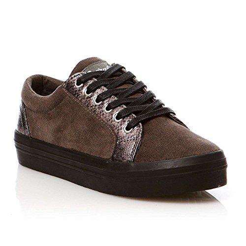 Kaporal - Flex, Sneaker Donna Grigio (grigio)