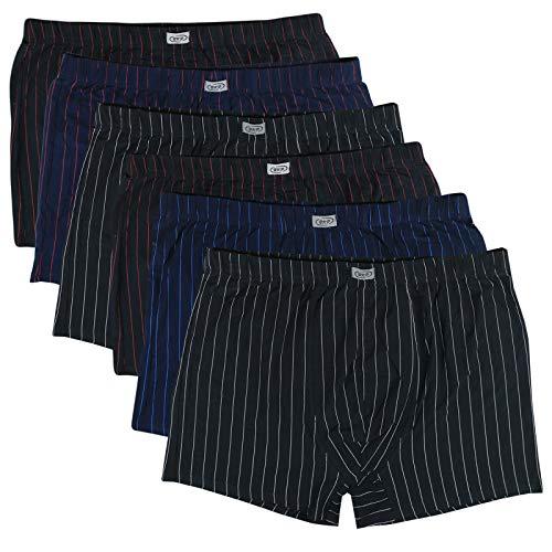 Streifen-baumwoll-shorts (ReKoe 6er Pack Herren Übergröße M L XL 2XL 3XL 4XL 5XL 6XL 7XL 8XL Boxershorts Baumwolle Streifen Unterhosen, Größe:7XL=13)