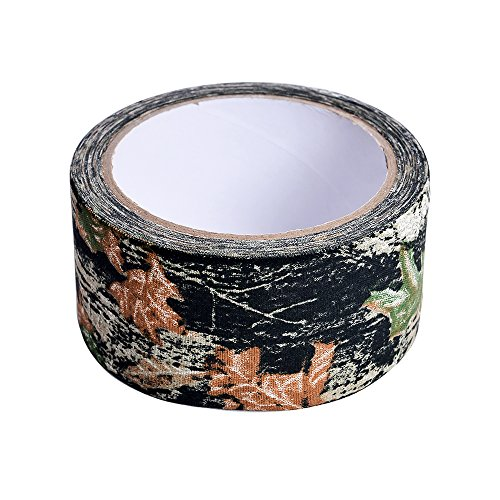 ouflage Duct Klebeband Reinigungstuch Camo Tapes für Jagd Outdoor Training Schutz 50mm x 10.9yd Blätter (Jagd Camo-blätter)