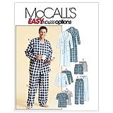 McCall's M4244 - Patrón de costura para confeccionar pijama de caballero (varios modelos)