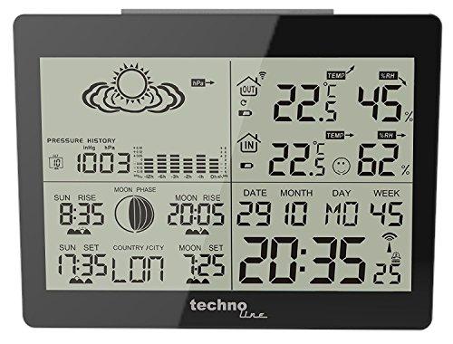 Technoline WS 6760 Estación meteorológica Moderna con pronóstico de la Situación meteorológica...