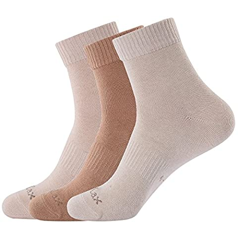 Laulax Mens 3 Pairs Naturally Colored Organic Cotton Socks, Size UK 8 - 11 / Europe 41 - 46, Cream White, Beige, Light Brown