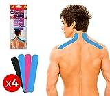 626657 Set de 4 parches Kinesiología para cuello nuca y espalda