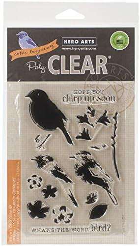 Hero Arts en en en Caoutchouc Tampons Transparents 10,2 cm X 15,2 cm Sheet-Color Superposition Bird et Branch B00XGWKXL0 222514