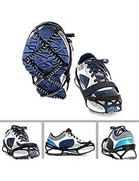YGQersh Cubre Zapatos para Caminar 1 par de Deportes al Aire Libre  Crampones Antideslizantes Tacos de 83fe94fad2f58