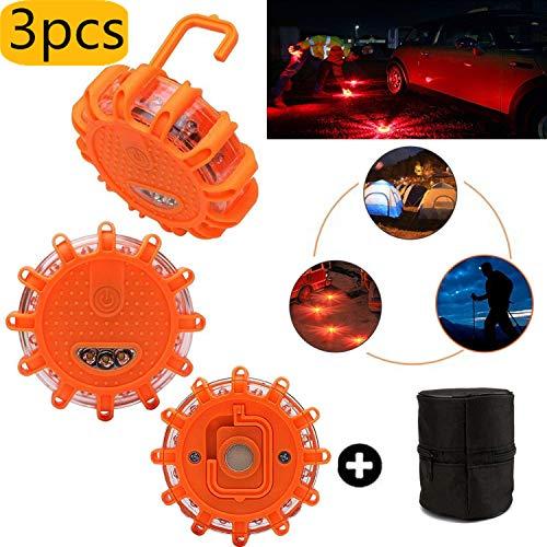 Gyrophare Balise de Signalisation Lumineuse LED avec Base...